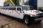 Baltas Hummer H2 limuzinas