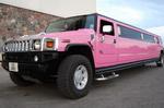 Rožinis Hummer limuzinas Vestuvėms